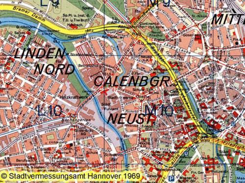 Muster Stadtkarte 1:20 000 historisch