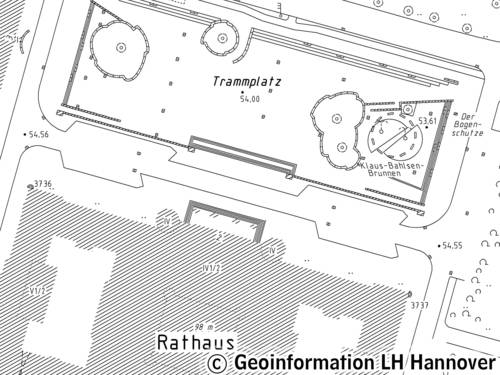 Muster Stadtkarte 1:1000
