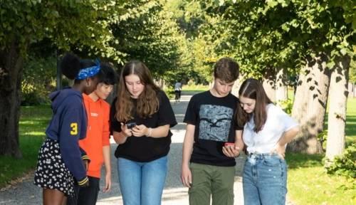Digitale Gartenrallye: Mithilfe der ActionBound-App lassen sich auf spielerische Art und Weise die Herrenhäuser Gärten erkunden.