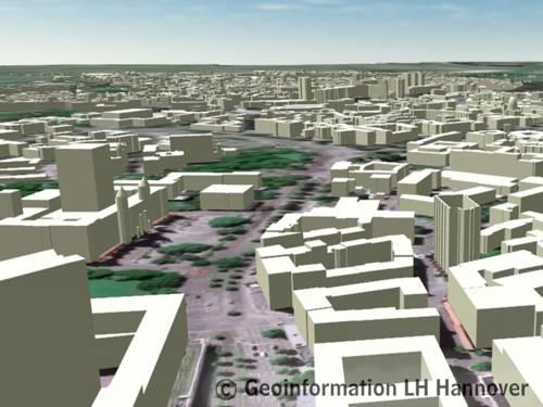 Digitales Stadtmodell - Klötzchenmodell