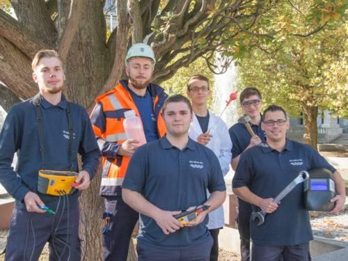 Auszubildende bei der Stadtentwässerung Hannover