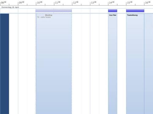 Kalender mit Besprechungsterminen