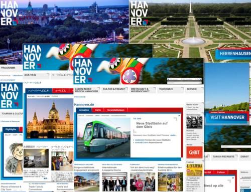 Screenshots vom Online-Portal Hannover.de