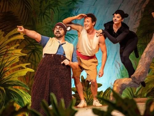 Mogli und seine Freunde im Dschungel