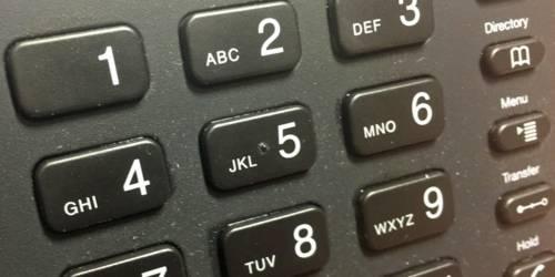 Tastenfeld eines Telefons