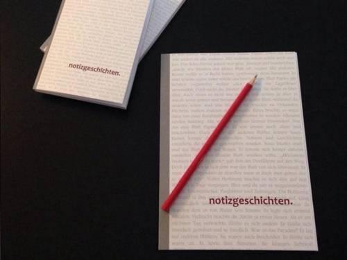 """Heft mit der Aufschrift """"notizgeschichten"""""""