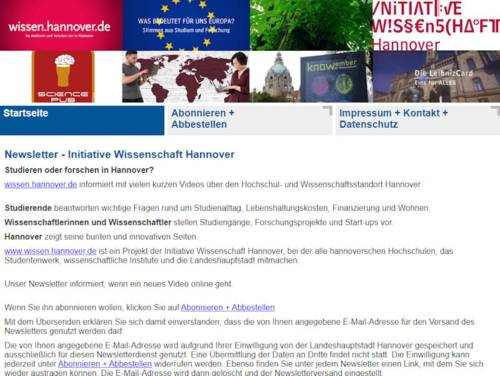 Screenshot einer Webseite