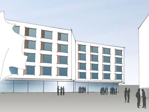 Zeichnung eines Gebäudes