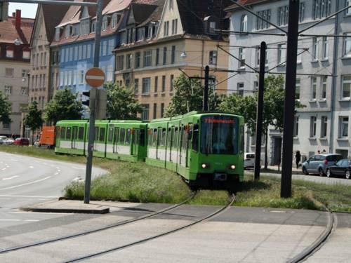 Straßenbahn.