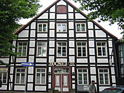 Das Stadtmuseum in Neustadt am Rübenberge ist in einem historischen Fachwerkhaus untergebracht.