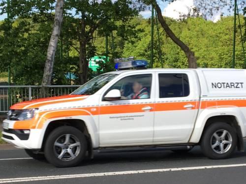 Einsatzfahrzeug eines Notarztes