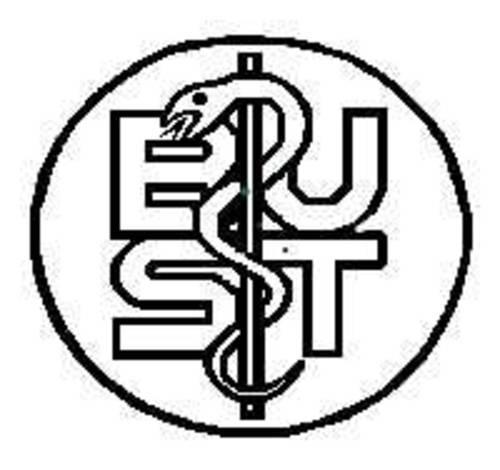 Logo mit Äskulap-Stab und den Buchstaben B U S T