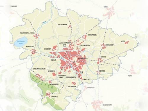 Karte Region Hannover