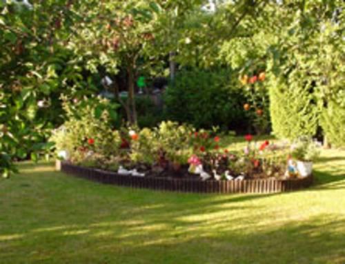 Beet in einem Kleingarten in Hannover