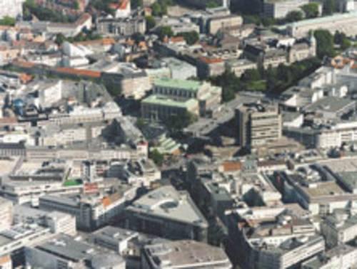 Luftbild Innenstadt mit Blick über Kröpcke und Oper