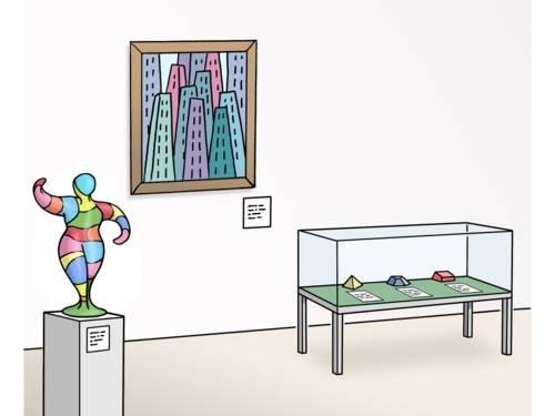 Kunst·werke in einem Museum.