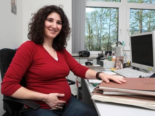Schwangere Arbeitnehmerin