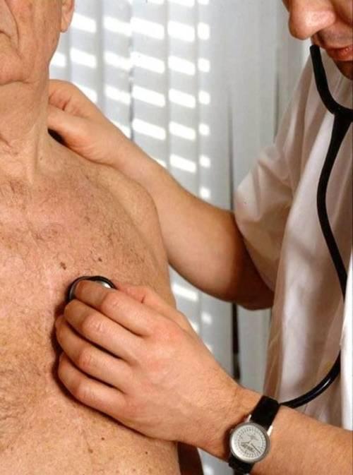 Abhorchen mit dem Stethoskop