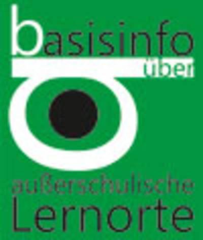 """Logo mit der Beschriftung """"basisinfo über außerschulische Lernorte""""."""