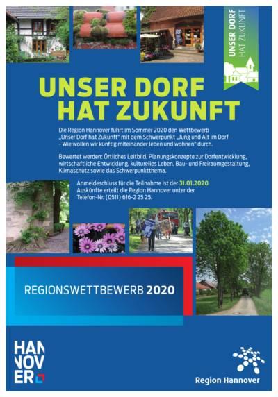 """Plakat zum Wettbewerb """"Unser Dorf hat Zukunft 2020"""""""