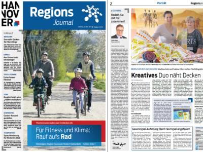 Vorschau auf die ersten beiden Seiten des RegionsJournal, Ausgabe Nr. 2/2016