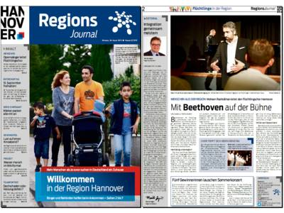 Vorschau auf die ersten beiden Seiten des RegionsJournal, Ausgabe Nr 3/2015