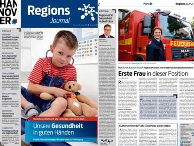 Vorschau auf die ersten beiden Seiten des RegionsJournal, Ausgabe Nr. 3/2016