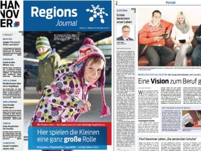 Vorschau auf die ersten beiden Seiten des RegionsJournals, Ausgabe 4/2013