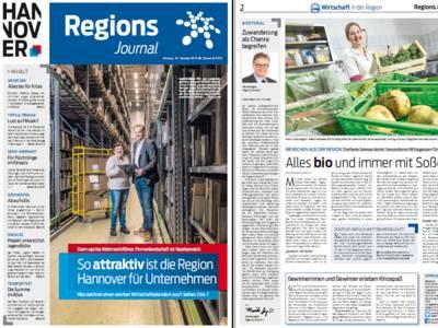 Vorschau auf die ersten beiden Seiten des RegionsJournal, Ausgabe Nr 4/2015