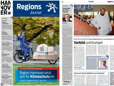 Vorschau auf die ersten beiden Seiten des RegionsJournal, Ausgabe Nr. 4/2016