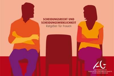 Zeichnung eines Mannnes und einer Frau, die mit verschrenkten Armen auf Stühlen sitzen und sich anschauen. Zwischen ihnen steht ein weiteren Stuhl.