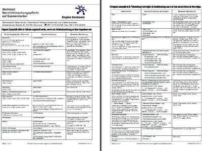 Vorschau auf das Merkblatt der Region Hannover zur Kenntlichmachungspflicht