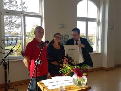 Christine Etzold erhält den Ehrenpreis 2018.