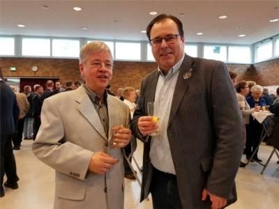 Neujahrsempfang 2018 - Herr Borgwaldt (Vorsitzender der AGAV) und Bezirksbürgermeister Göbel.
