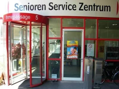 Eingang des Kommunalen Seniorenservice Hannover.