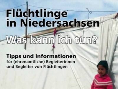 """Broschürencover """"Flüchtlinge in Niedersachsen"""""""