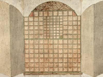 Archivschrank des Bürgermeisters Christian Ulrich Grupen aus dem 18. Jahrhundert,