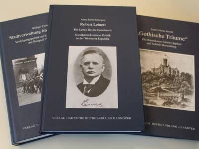 """Bislang hat das Stadtarchiv Hannover 19 Bände in der Reihe """"Hannoversche Studien"""" herausgegeben."""