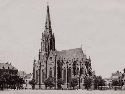 Die Christuskirche mit Blick vom Klagesmarkt, um 1900