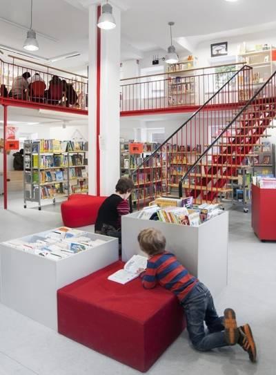 Innenansicht Nordstadtbibliothek