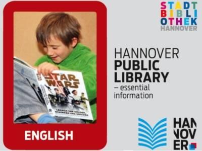 Bibliotheksflyer in englischer Sprache