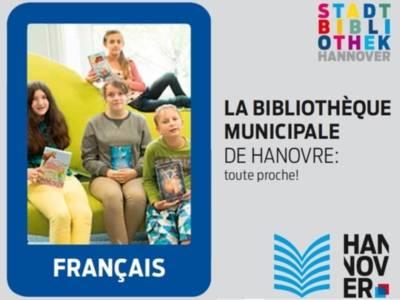 Bibliotheksflyer in französischer Sprache