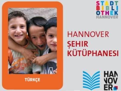 Bibliotheksflyer in türkischer Sprache