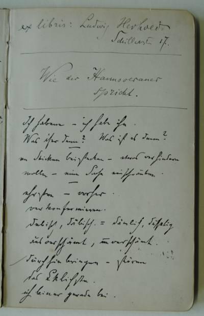 Handschrift von Theodor Lessing