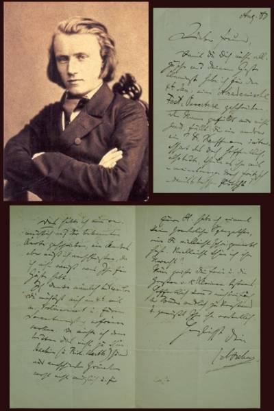 Handschrift Brahms