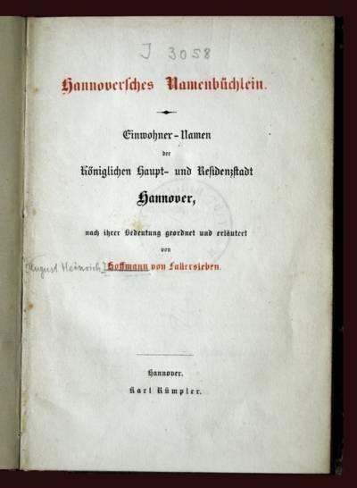 Namenbüchlein