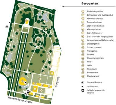 Berggarten-Plan