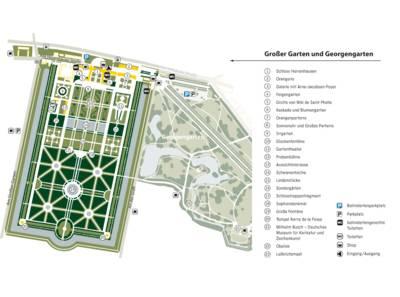 Karte Großer Garten