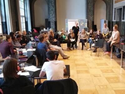 Workshop mit Cesy Leonard vom Zentrum für Politische Schönheit (2016)