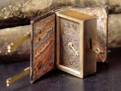Leibniz' pedometer in book form.
